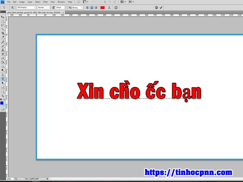 Lỗi không gõ được tiếng Việt trong photoshop