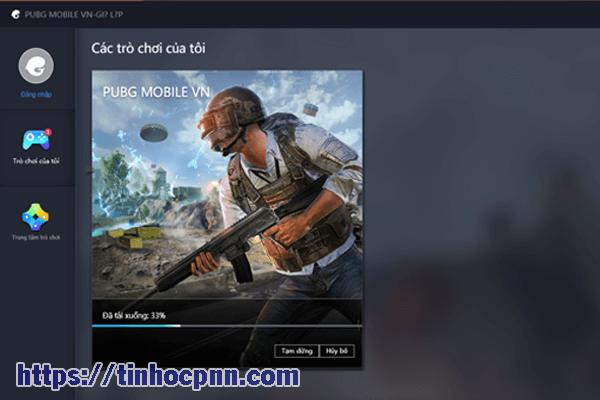 Hệ thống đang tải tập tin PUBG mobile PC