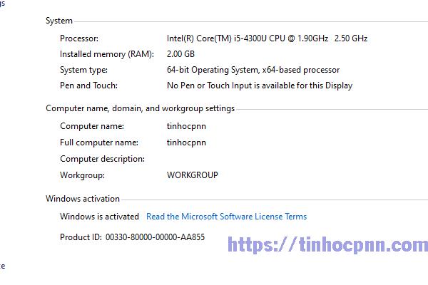 tên máy tính đã được đổi xong.
