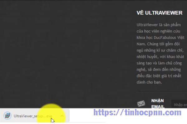 Click double vào phần mềm Ultraviewer vừa tải về, tiến hành cài đặt ultraviewer